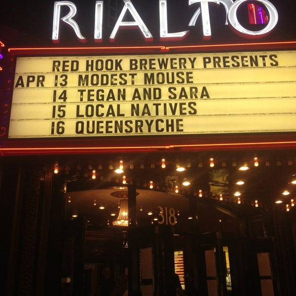 Photo taken at The Rialto Theatre by Wyatt B. on 4/14/2013