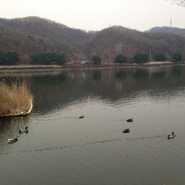 Photo taken at Yuldong Park by eunsori on 3/17/2013