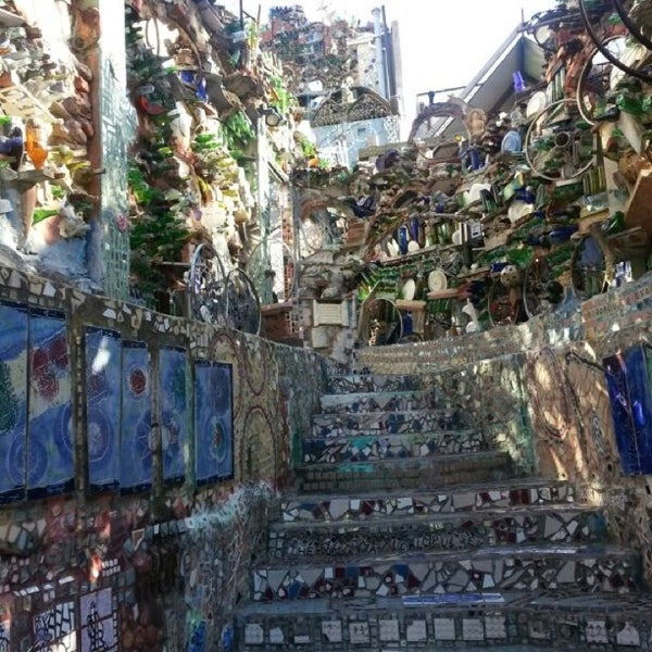 Photo taken at Philadelphia's Magic Gardens by Nadine Z. on 4/6/2013