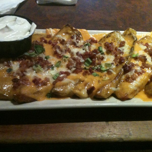 You have to try the loaded baked potato skins, amazing