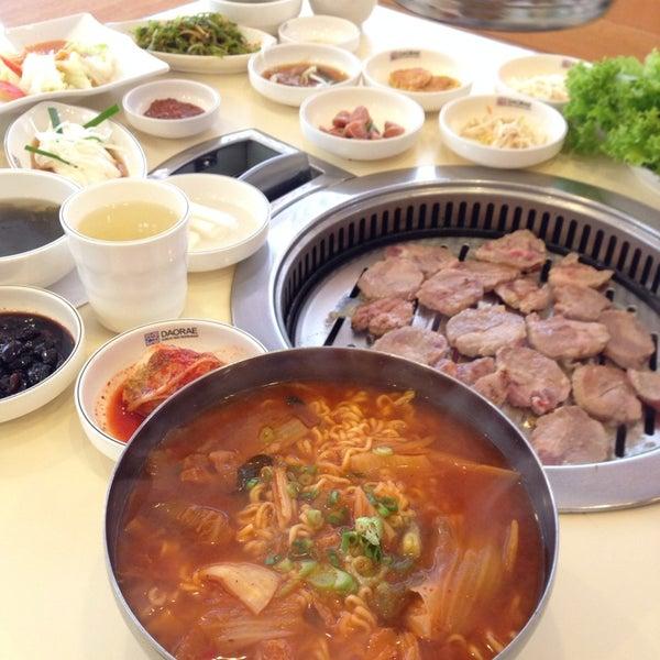 Photo taken at Daorae Korean BBQ Restaurant by SK L. on 3/2/2014