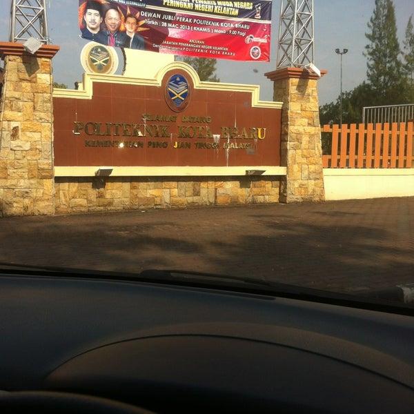 3/31/2013에 Amzar Iqbal Z.님이 Politeknik Kota Bharu (PKB)에서 찍은 사진
