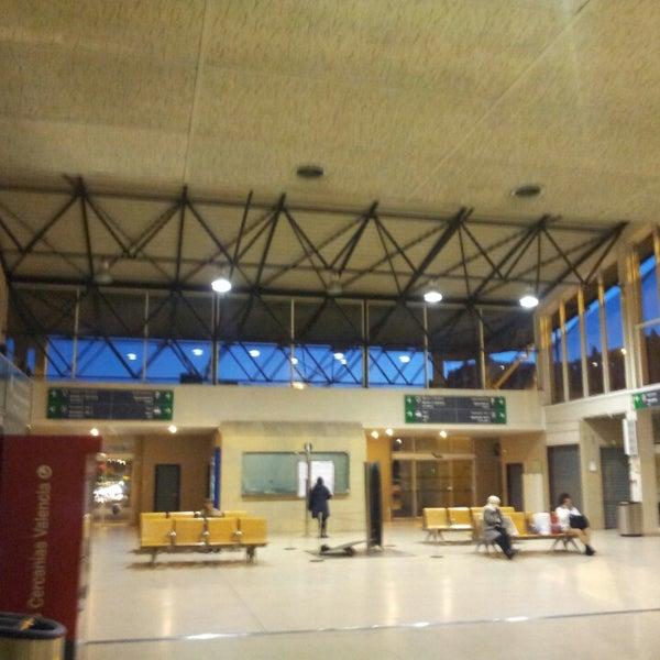 Photo taken at Estació de Tren - València-Cabanyal by Sergio G. on 11/23/2013