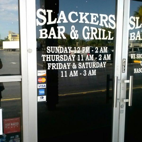 Photo taken at Slackers Bar & Grill by Boz (Vicki) L. on 5/16/2013