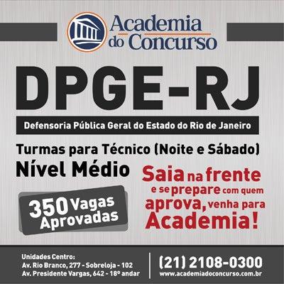 Curso novo! DPGE-RJ. Entre em contato com a nossa Central de Atendimento pelo (21) 2108-0300.