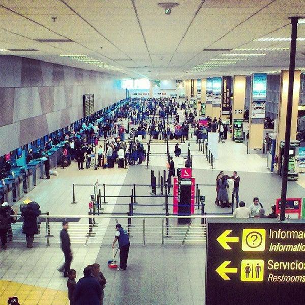 Photo taken at Jorge Chávez International Airport (LIM) by Cristhian R. on 8/9/2013