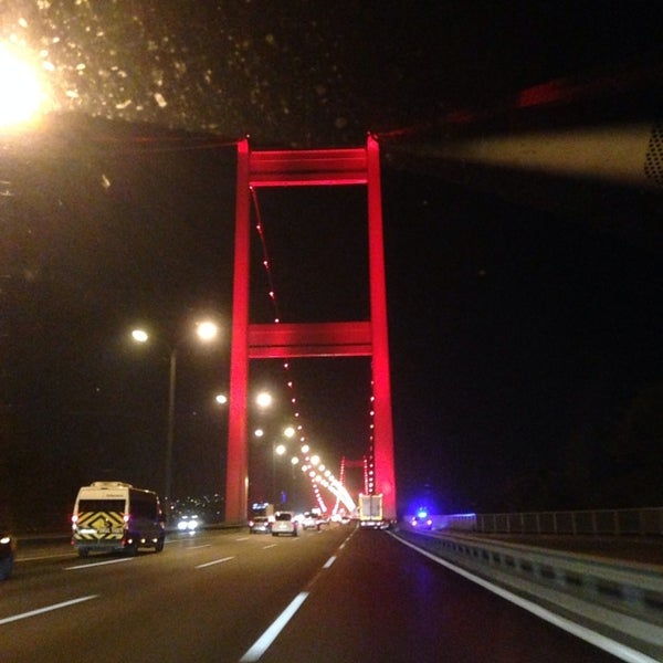 Photo taken at Fatih Sultan Mehmet Bridge by Mustafa E. on 11/17/2013