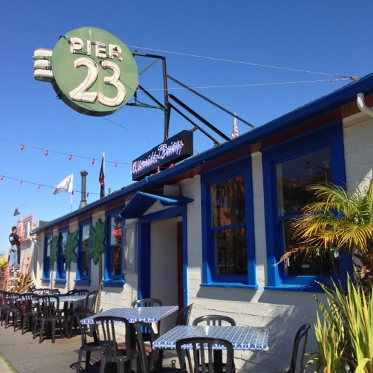 Photo taken at Pier 23 Cafe by Patrick S. on 10/17/2012