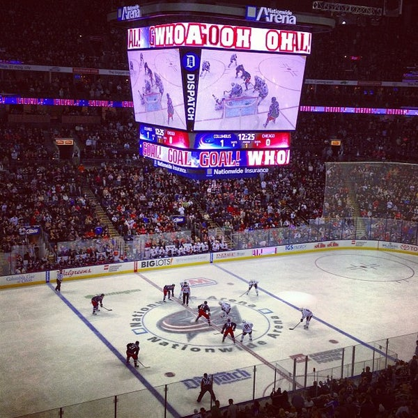 Photo taken at Nationwide Arena by Jessica C. on 1/27/2013
