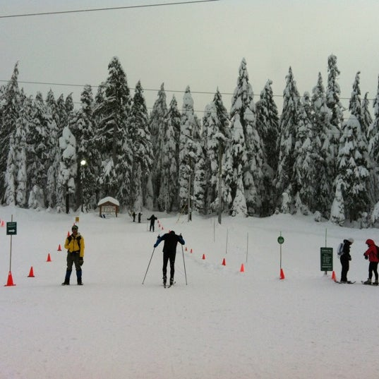 Photo taken at Cypress Mountain Ski Area by Celeste M. on 12/28/2012