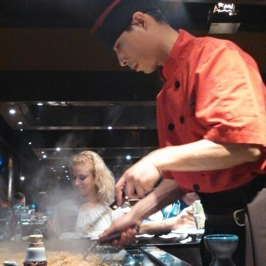 Photo taken at Aomi Japanese Steakhouse by corey b. on 3/7/2013