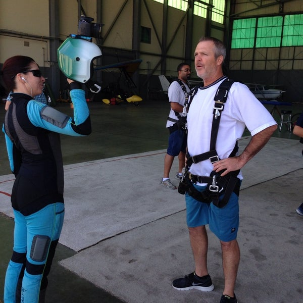 Photo taken at Skydive Monterey Bay by Jennifer Z. on 7/26/2014