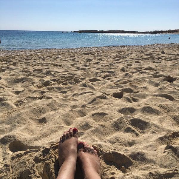 Photo taken at Makronissos Beach by Natali Z. on 11/6/2016