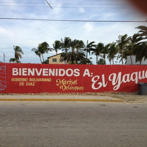 Photo taken at Playa El Yaque by Manuel R. on 5/23/2013