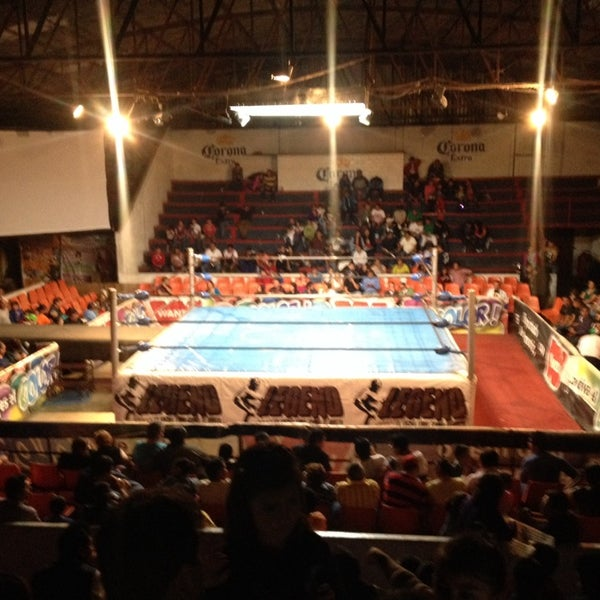 Photo taken at Arena Adolfo Lopez Mateos by Steffi G. on 5/18/2014