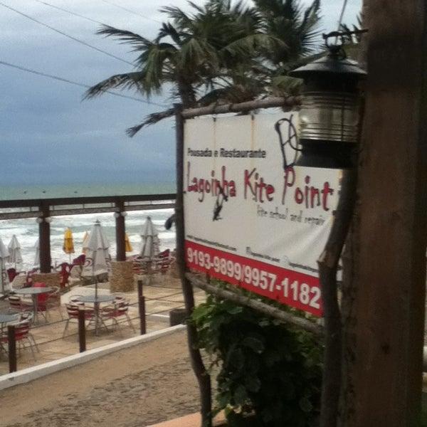 Photo taken at Lagoinha Kite Point by Syllos A. on 4/10/2013