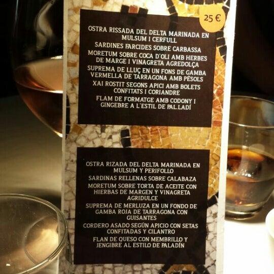 Menú de degustación de Tarraco a taula en las Jornadas