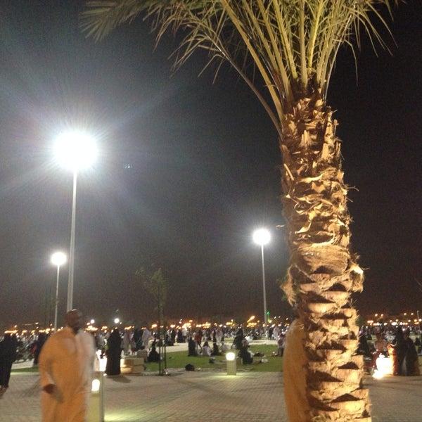 Photo taken at King Abdullah Park by Hessa Q. on 10/10/2013