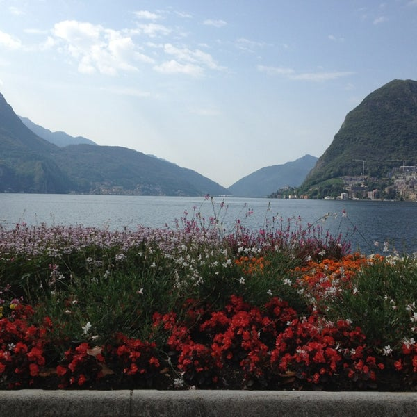 Photo taken at Lago di Lugano by Tatiana S. on 7/5/2013