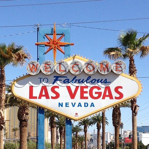 Photo taken at Welcome To Fabulous Las Vegas Sign by Richard O. on 4/14/2013
