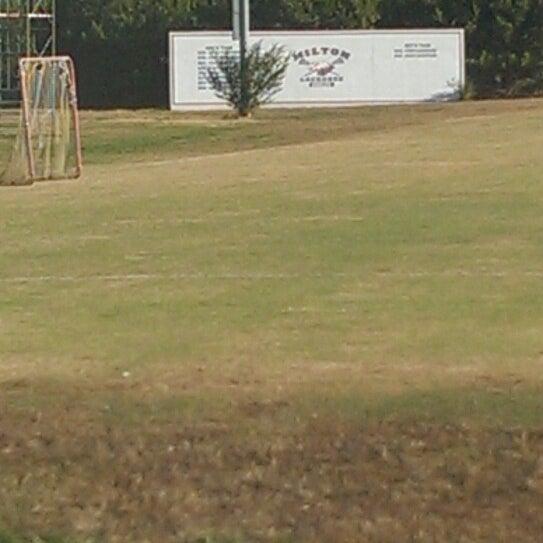 Photo taken at Milton High School Practice Lacrosse Field by Scott J. on 11/3/2013