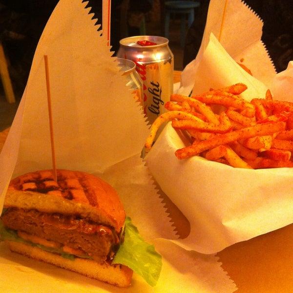 Photo taken at Biber Burger by Deniz G. on 1/13/2013