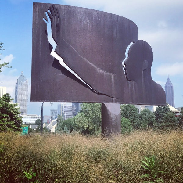 "Photo taken at ""Homage to King"" Sculpture by Miranda H. on 8/6/2017"