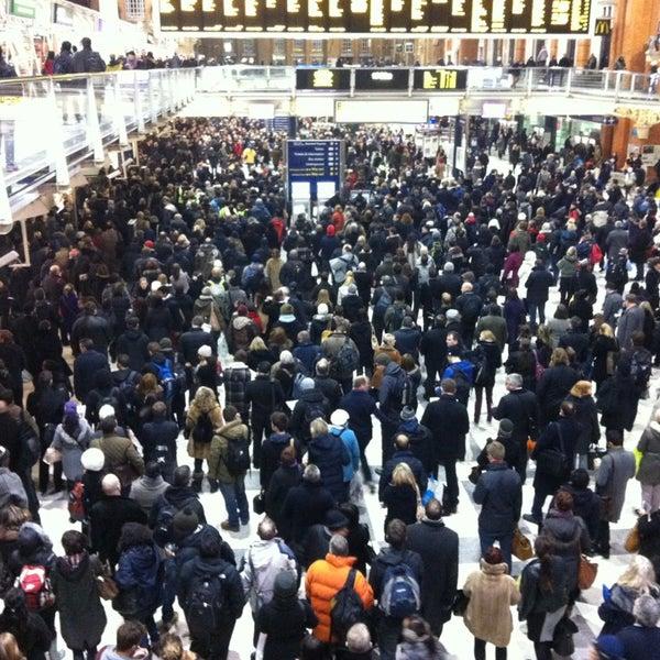 Photo taken at London Liverpool Street Railway Station (LST) by Luke E. on 1/23/2013