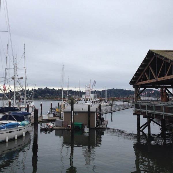 Photo taken at Coos Bay Boardwalk by Alicia on 9/27/2013