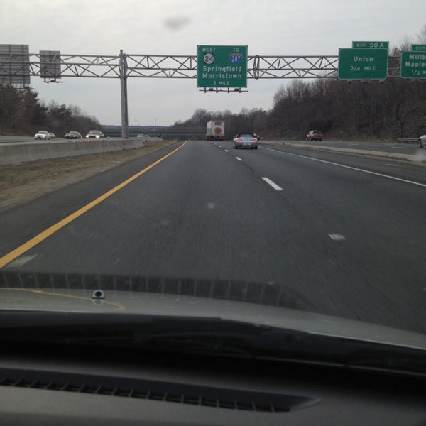 Photo taken at Garden State Parkway -- Saddlebrook by Elizabeth S. on 3/17/2013