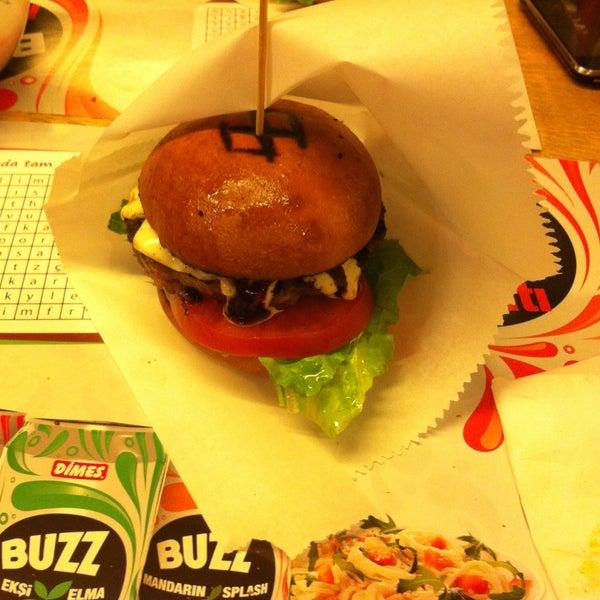 Photo taken at Biber Burger by Burak B. on 5/9/2013