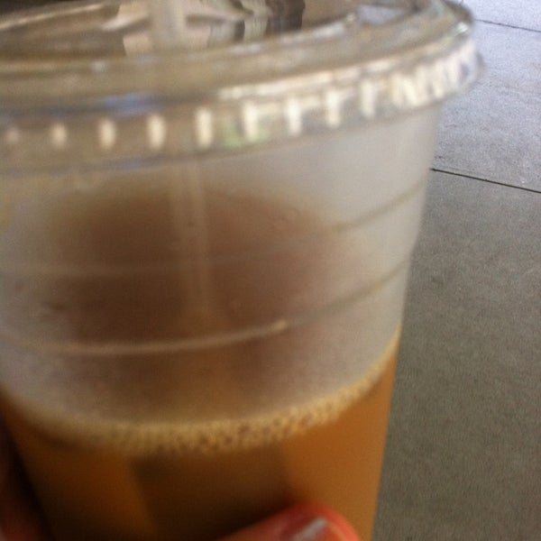 Awesome hazelnut iced coffee with soy, and you get to pick how much ice.