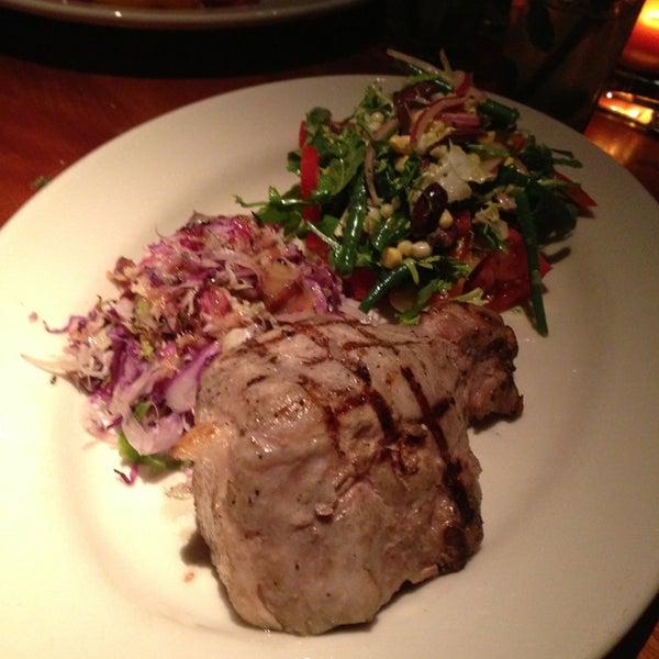 Pork chop is magnificent. Get the pork chop.