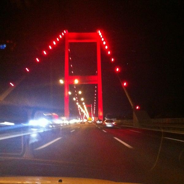 Photo taken at Fatih Sultan Mehmet Bridge by Mesut A. on 7/27/2013