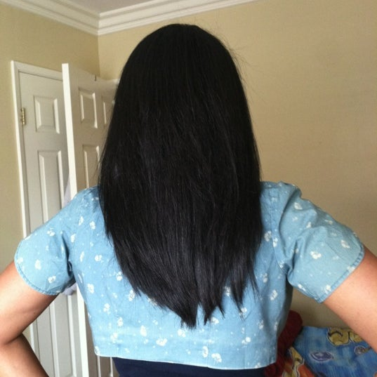 Get a Brazilian Gloss treatment! My hair is healthier than it has been since I was a very young girl.