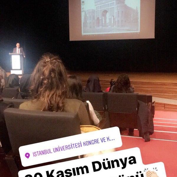 11/20/2017 tarihinde Gamzeziyaretçi tarafından İstanbul Üniversitesi Kongre Kültür Merkezi'de çekilen fotoğraf