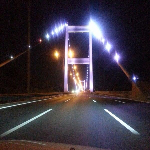 Photo taken at Fatih Sultan Mehmet Bridge by Mikail T. on 7/30/2013