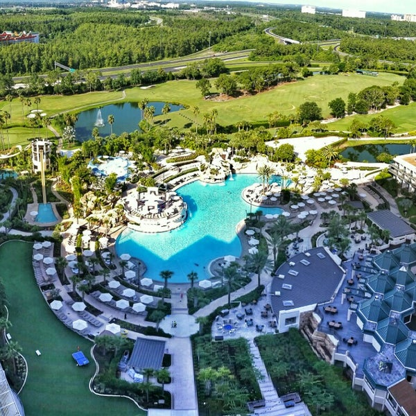 Photo taken at Marriott World Center Pool by Mike S. on 6/27/2015