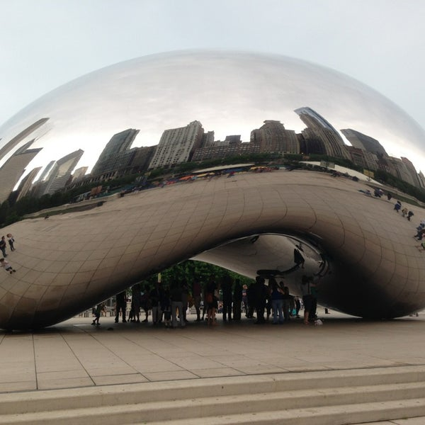 Photo taken at Cloud Gate by Anish Kapoor by Nicolas B. on 5/30/2013