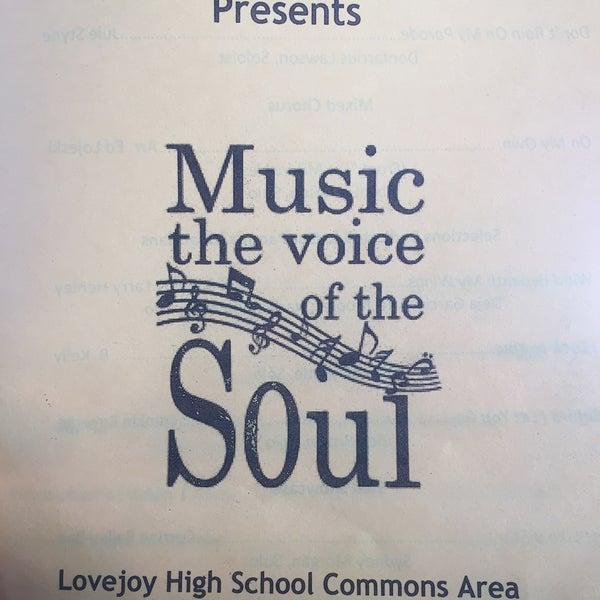 Photo taken at Lovejoy High School by wanda a. on 4/29/2016