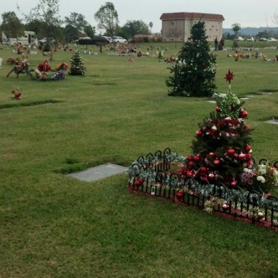 Photo taken at Oakdale Memorial Park and Mortuary by Mercedes M. on 12/25/2012