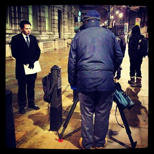 Photo taken at 10 Downing Street by Michael A. on 1/19/2013