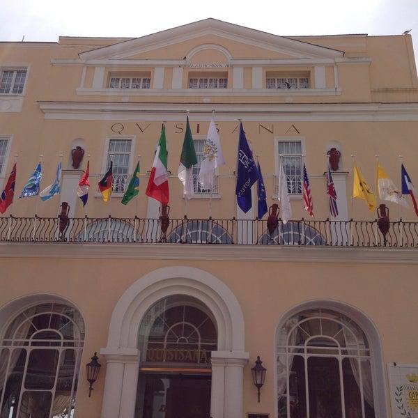 Photo taken at Quisisana Grand Hotel by Alberto V. on 5/4/2013