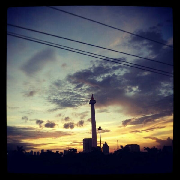 Photo taken at Stasiun Gambir by wong s. on 4/12/2013