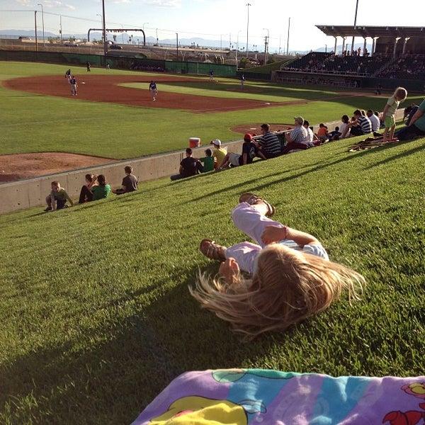 Photo taken at Brent Brown Ballpark by Darren D. on 8/9/2013