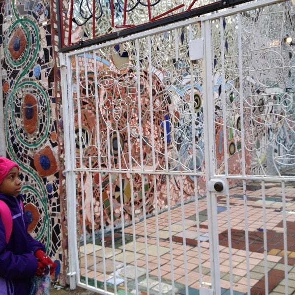 Photo taken at Philadelphia's Magic Gardens by Sharyn F. on 2/1/2013
