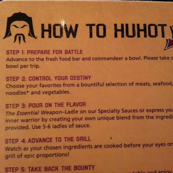 Photo taken at HuHot Mongolian Grill by Brittany H. on 8/19/2013