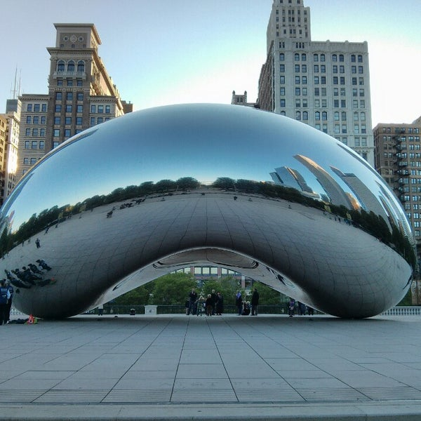 Photo taken at Cloud Gate by Anish Kapoor by Jordan S. on 5/23/2013