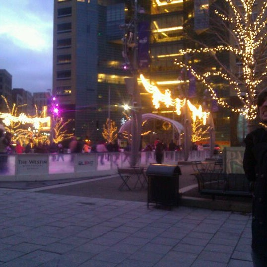 Photo taken at Campus Martius by Brian A. on 1/1/2012
