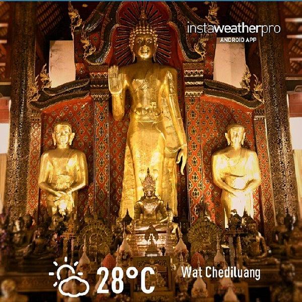 Photo taken at Wat Chedi Luang Varavihara by PYUK A. on 6/8/2013